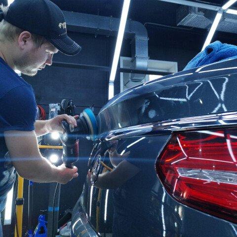 Детейлинг-полировка + 3 слоя керамики Mercedes GLE