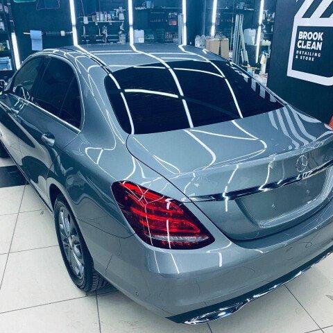 Детейлинг-полировка + 2 слоя керамики, антидождь Mercedes C-class