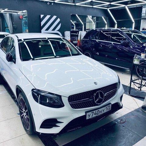 Оклейка зоны риска, детейлинг-полировка + 2 слоя керамики Mercedes GLC
