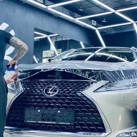 Оклейка зоны риска на Lexus Rx 350