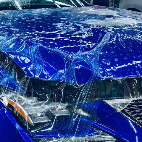 Оклейка капота на Lexus RC F